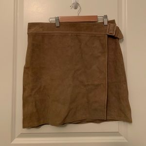 Vince goat leather skirt